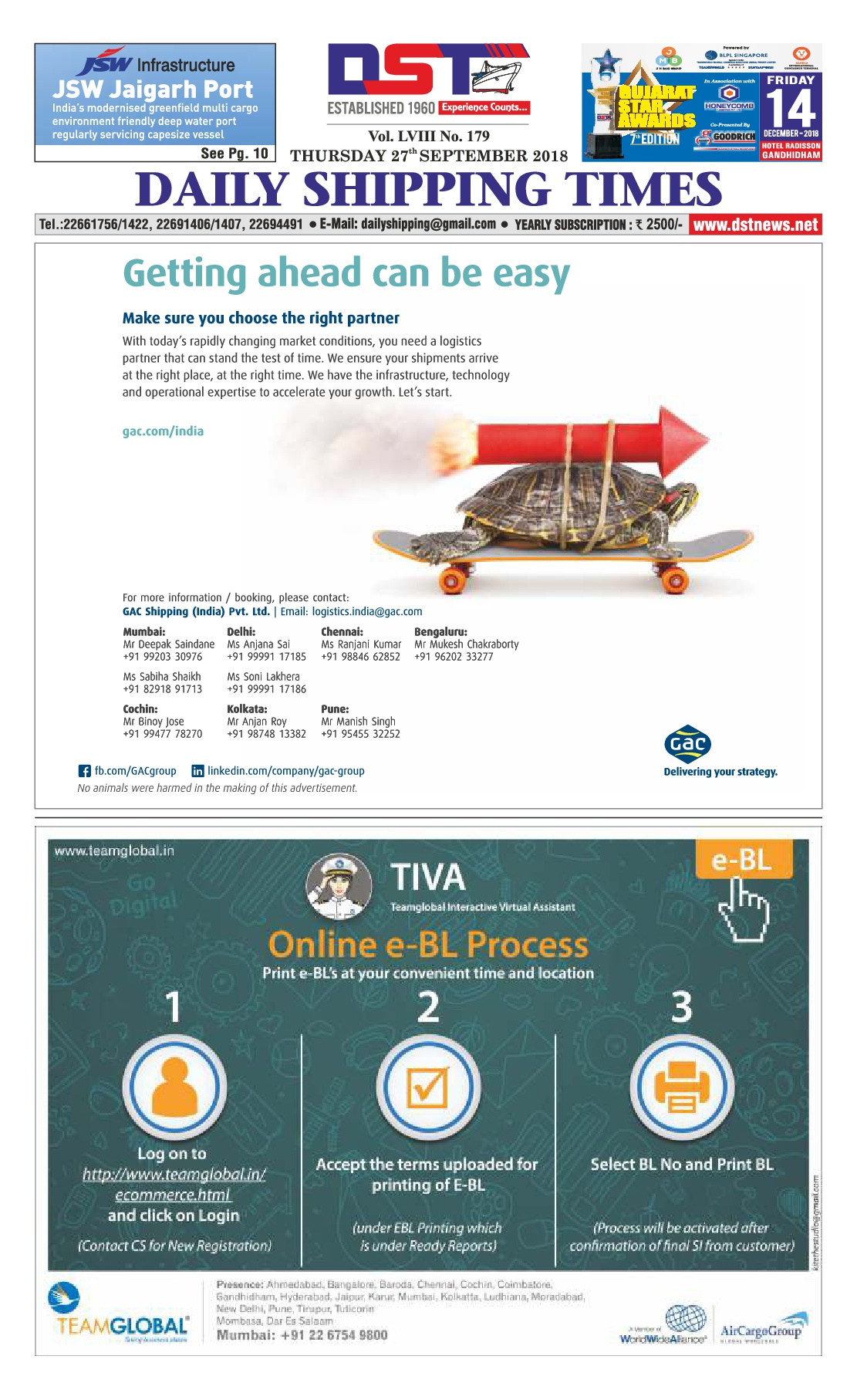 Daily Shipping Times - Export-Import, Shipping, Maritime and Logistics